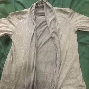 Light Long grey cardigan